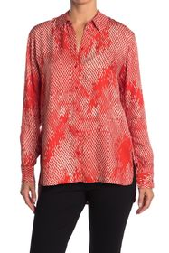 BOSS Babia Abstract Collared Blouse