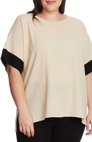 Vince Camuto Colorblock Elbow Sleeve Blouse