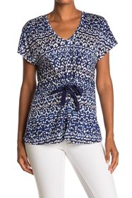 Tommy Bahama Desi Dots Tie Front V-Neck Top