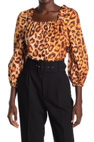 kate spade new york panthera square neck top
