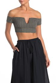 Free People Lucky Now Brami Off-the-Shoulder Crop