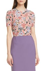 BOSS Faislee Floral Ribbed Top