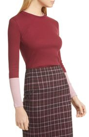 BOSS Emalee Colorblock Ribbed Sweater