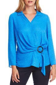 Vince Camuto Ditsy Fragments Long Sleeve Belted To