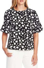 Vince Camuto Flutter Cuff Floral Top