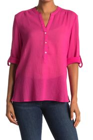 Tommy Bahama Coast View Gauze Split Neck Top