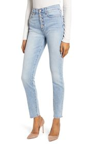 7 For All Mankind High Waist Exposed Button Fly Sk