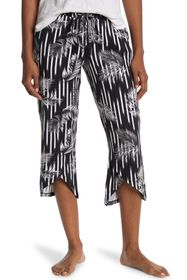 Tahari Striped Cropped Lounge Pants