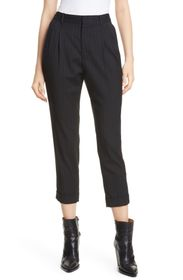 NILI LOTAN Montana Pinstripe Stretch Wool Pants