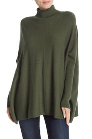 JOSEPH A Oversized Boxy Turtleneck Tunic Sweater