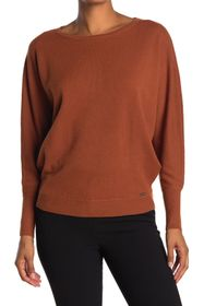 T Tahari Boatneck Dolman Sleeve Sweater