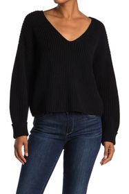 French Connection Mozart Boxy V-Neck Crop Sweater