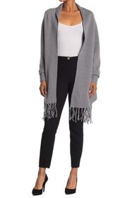Love Token Oakley Fringed Poncho Cardigan