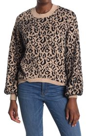 Love Token Kensie Leopard Print Sweater