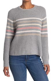 Splendid Striped Waffle Knit Raglan Sweater