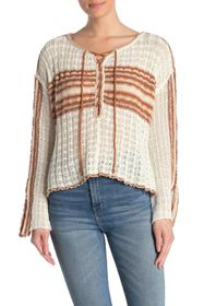 Free People Marina Bay Lace-Up Sweater