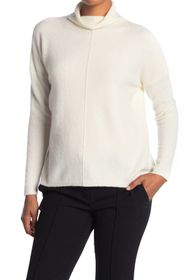 Kinross Relaxed Funnel Neck Cashmere Blend Sweater