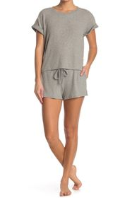 Lucky Brand Ribbed Hacci T-Shirt & Shorts Pajama 2