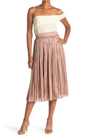 kate spade new york metallic midi skirt