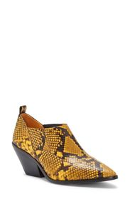 Vince Camuto Jetera Leather Snake Embossed Bootie
