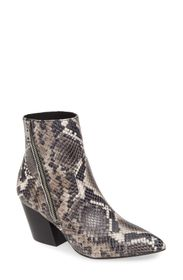 ALLSAINTS Aster Snake Embossed Leather Bootie