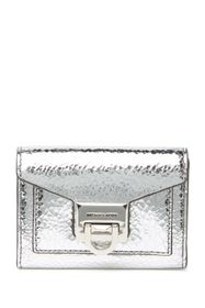 MICHAEL Michael Kors Small Flap Metallic Leather W