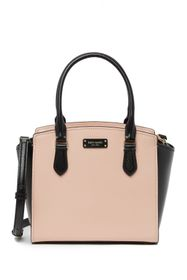 kate spade new york two-tone small leather satchel