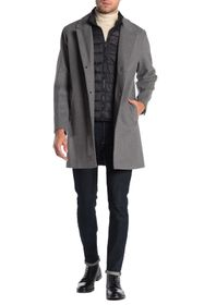 Cole Haan Mixed Media Dickey Insert Trench Coat