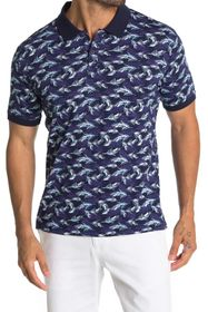 Slate & Stone Patterned Short Sleeve Polo