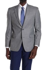 Tommy Hilfiger Grey Checked Two Button Notch Lapel