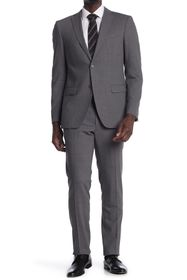 John Varvatos Collection Grey Sharkskin Two Button