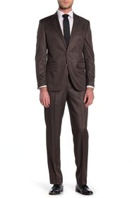 Dockers Brown Sharkskin Two Button Notch Lapel Sui