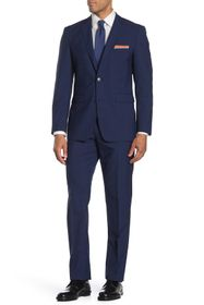 Vince Camuto Navy Plaid Slim Fit 2-Piece Suit