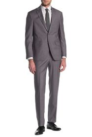 Kenneth Cole Reaction Windowpane Grey Two Button S