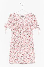 Nasty Gal White Let Your Love Grow Floral Mini Dre