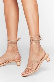 Nasty Gal Beige You've Got Balls Babe Faux Leather