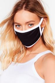 Nasty Gal Black It's Up Two-Tone You Fashion Face