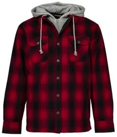 RedHead Insulated Hooded Flannel Shirt for Men