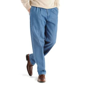 Men's Lee® Stain Resist Relaxed-Fit Pleated Denim