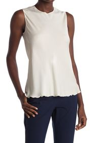 Theory Lettuce Trim Silk Blend Tank