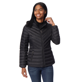 Womens 32 Degrees Lightweight Down Jacket with Fau