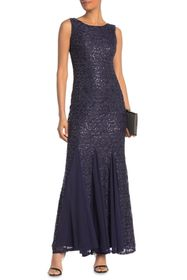 Onyx Nite Sequin Lace Gown