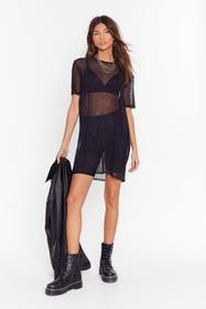 Nasty Gal Black See Clearly Now Mesh Dress