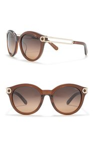 Chloe 55mm Round Cat Eye Sunglasses