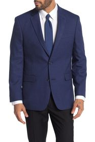 Tommy Hilfiger Blue Plaid Two Button Notch Lapel S