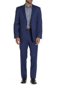 Tommy Hilfiger Blue Solid Two Button Notch Lapel W
