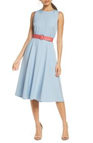 Vince Camuto Laguna Belted Sleeveless Fit & Flare