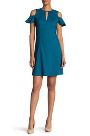 Elie Tahari Raylan Keyhole Linen Blend Dress