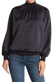 REISS Magda Jersey High Neck Blouse