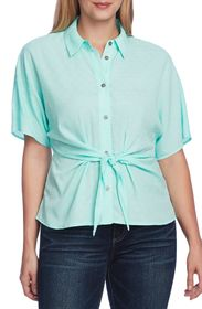 Vince Camuto Short Sleeve Drop Shoulder Tie Front
